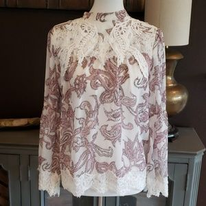 Sheer LOFT blouse